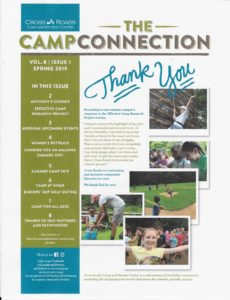 Pictture of 1st page of spring newsletter