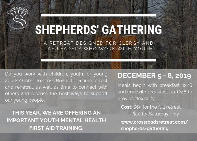 Shepherds' Gathering flyer