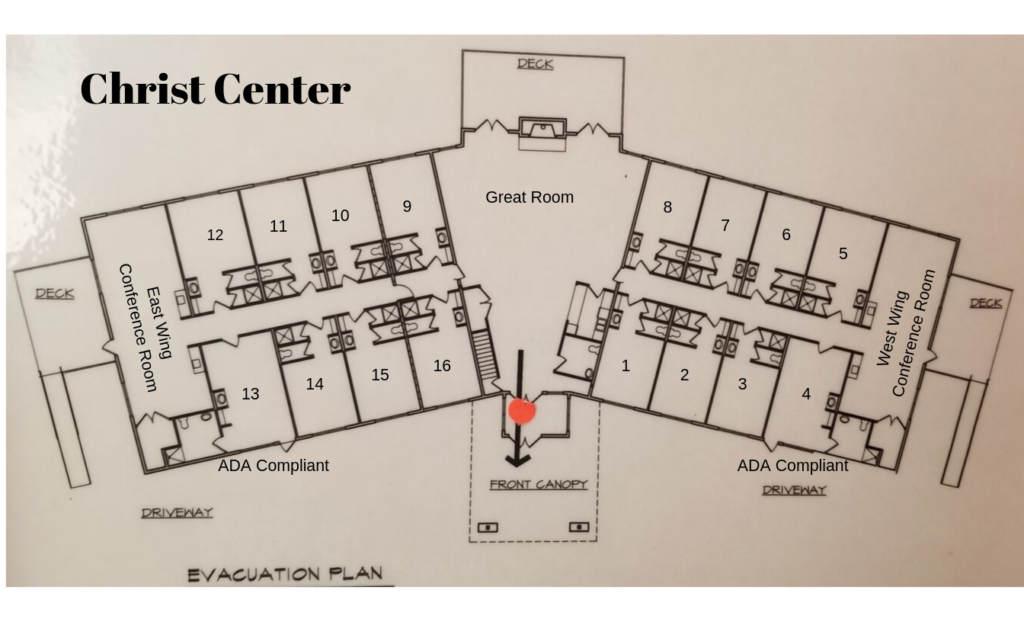 Christ Center with room numbers